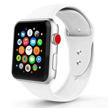 Pasek Tech-Protect Smoothband White do Apple Watch 1 / 2 / 3 (42mm)