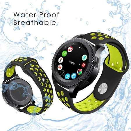 Pasek Tech-Protect SoftBand Black / Lime do Samsung Gear S3