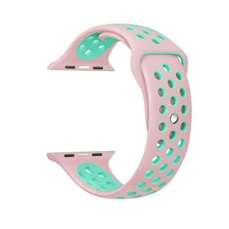 Pasek Tech-Protect SoftBand Pink / Mint do Apple Watch 1 / 2 / 3 (38mm)