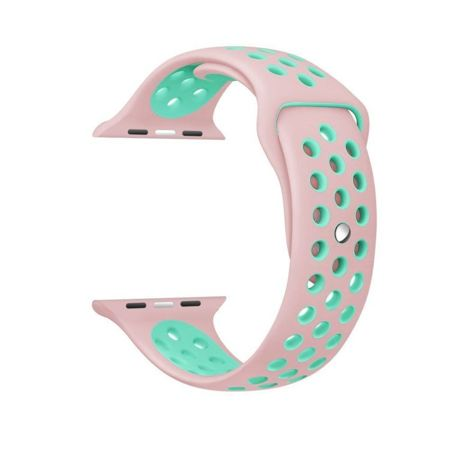 Pasek Tech-Protect SoftBand Pink / Mint do Apple Watch 1 / 2 / 3 (42mm)