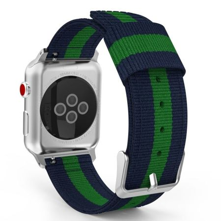 Pasek Tech-Protect Welling Navy / Green do Apple Watch 1 / 2 / 3 (42MM)