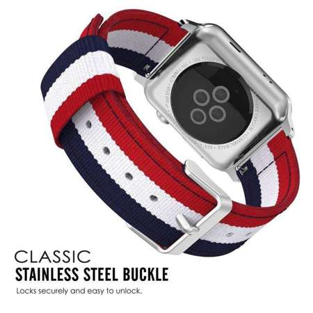 Pasek Tech-Protect Welling Navy / Red do Apple Watch 1 / 2 / 3 (38MM)