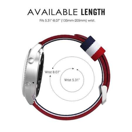 Pasek Tech-Protect Welling Navy / Red do Samsung Gear S3