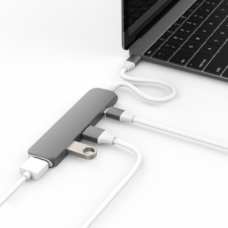 "Przejściówka HyperDrive USB-C Hub z 4K HDMI Space Gray 2016 MacBook Pro / 12"" MacBook"