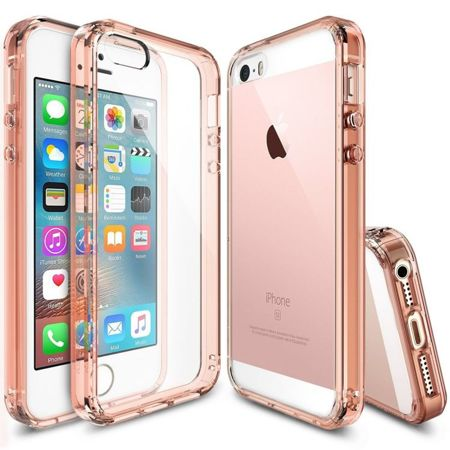 Rearth Ringke Fusion Rose Gold + Folia | Etui dla Apple iPhone 5 / 5S / 5SE