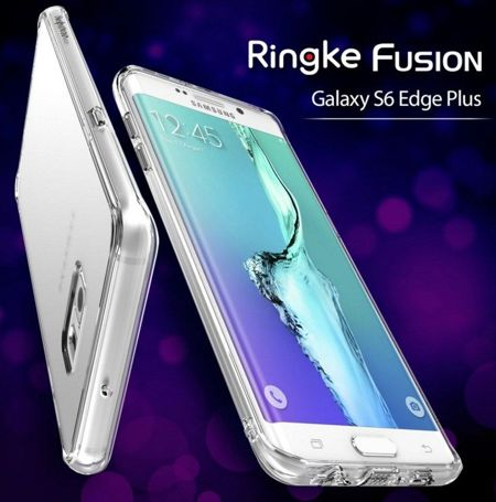 Rearth Ringke Fusion Smoke Black + Folia | Etui dla Samsung Galaxy S6 Edge Plus