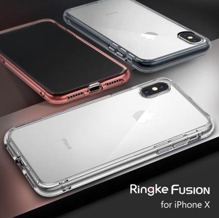 Rearth Ringke Fusion Smoke Black | Obudowa + folia ochronna dla modelu Apple iPhone X / 10