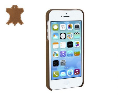 Skórzana obudowa Apple iPhone 5 5S - camel - Stilgut Cover