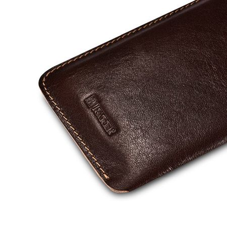 Skórzane etui iCarer Leather Pouch Brown | Apple iPhone 7 / 8