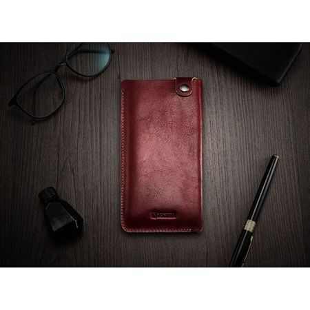 Skórzane etui iCarer Leather Pouch Red | Apple iPhone 7 / 8