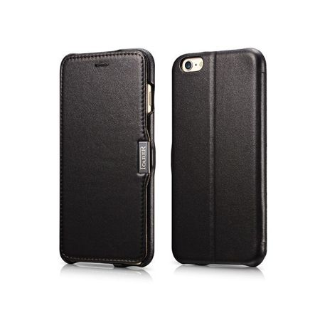 Skórzane etui iCarer Side Open Vintage Black | Apple iPhone 6 Plus / 6S Plus