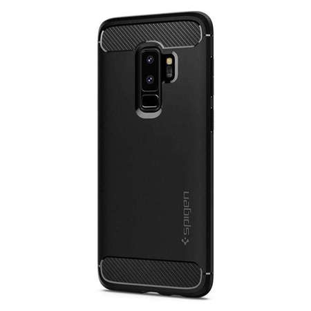 ETUI SAMSUNG GALAXY S9 PLUS - RUGGED ARMOR BLACK - BLACK