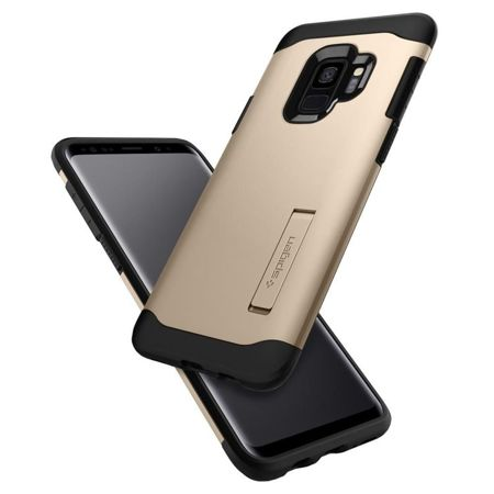 ETUI SAMSUNG GALAXY S9 - SPIGEN SLIM ARMOR MAPLE GOLD