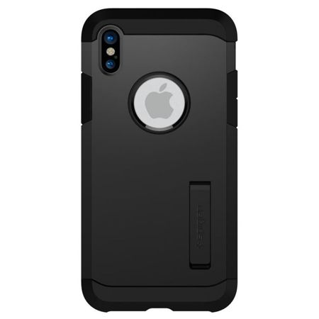 ETUI iPhone X / XS - SPIGEN TOUGH ARMOR - MATTE BLACK
