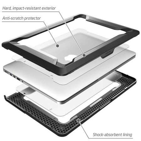 Supcase NC Rugged Black | Obudowa dla modelu Apple Macbook Pro Retina 13