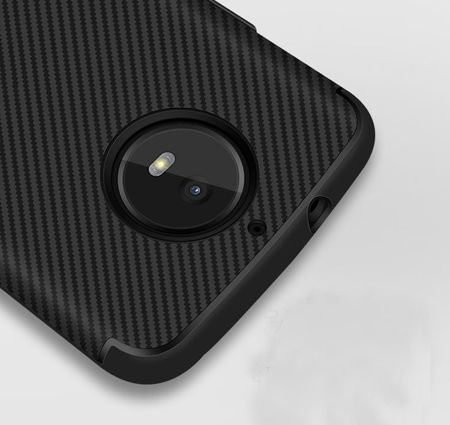 TECH-PROTECT Carbonline Black | Obudowa dla Motorola Moto G5S Plus
