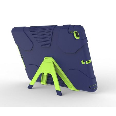 TECH-PROTECT Geometric Navy / Lime | Obudowa Apple iPad 9.7 2017 / 2018