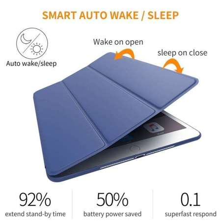 TECH-PROTECT SmartCase Navy Blue | Obudowa Apple iPad 2 / 3 / 4