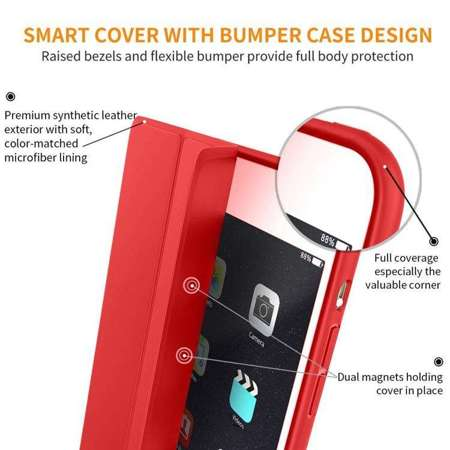 TECH-PROTECT SmartCase Red | Obudowa Apple iPad 2 / 3 / 4