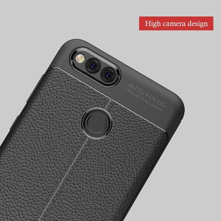 TECH-PROTECT TPULeather Black | Obudowa dla Huawei Honor 7X