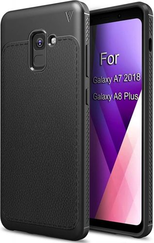 TECH-PROTECT TPULeather Black | Obudowa dla Samsung Galaxy A8 2018