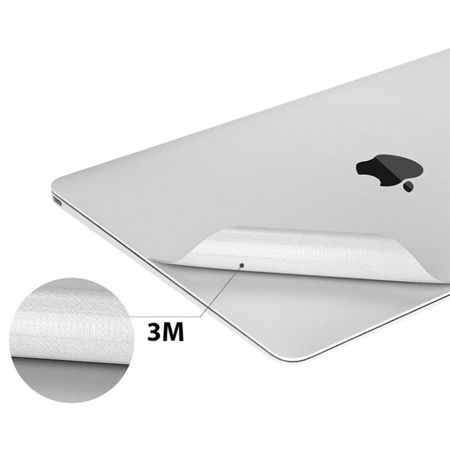 Tech-Protect 3M Skin Silver | Zestaw 3 folii ochronnych do Apple Macbook 12