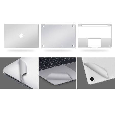 Tech-Protect 3M Skin Silver | Zestaw 3 folii ochronnych do Apple Macbook Air 13