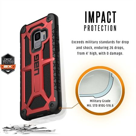 Urban Armor Gear Monarch Red | Pancerna obudowa dla modelu Samsung Galaxy S9
