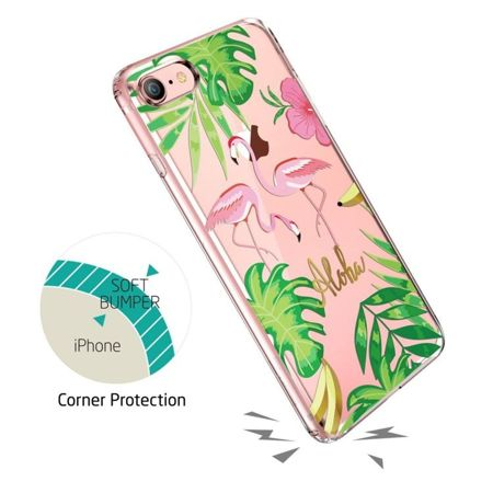 ZESTAW | ETUI ESR ART CASE FLAMINGO + FOLIA 3MK FLEXIBLE - iPhone 7 / 8