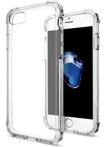 ZESTAW | ETUI SPIGEN CRYSTAL SHELL CLEAR CRYSTAL + FOLIA 3MK FLEXIBLE - iPhone 7 / 8