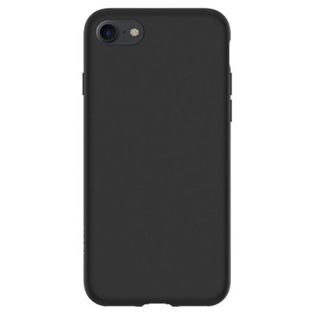 ZESTAW | ETUI SPIGEN LIQUID CRYSTAL BLACK + FOLIA 3MK FLEXIBLE - iPhone 7 / 8