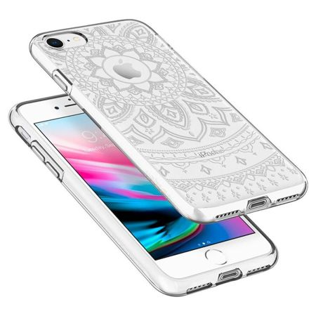 ZESTAW | ETUI SPIGEN LIQUID SHINE CRYSTAL + FOLIA 3MK FLEXIBLE - iPhone 7 / 8