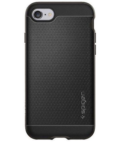 ZESTAW | ETUI SPIGEN NEO HYBRID GUNMETAL + FOLIA 3MK FLEXIBLE - iPhone 7 / 8