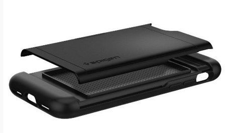 ZESTAW | ETUI SPIGEN SLIM ARMOR CS BLACK + FOLIA 3MK FLEXIBLE - iPhone 7 / 8
