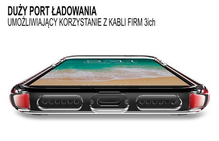 Zestaw | Obudowa Patchworks Lumina EX Red / Clear  + Szkło ochronne Perfect Glass dla Apple iPhone X / 10
