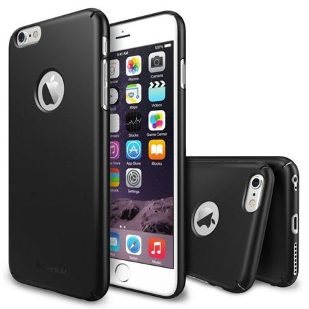 Zestaw Rearth - Obudowa Ringke Slim Gunmetal + folia na ekran Apple iPhone 6 / 6S