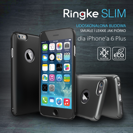 Zestaw Rearth - Obudowa Ringke Slim Mint + folia na ekran Apple iPhone 6 / 6S
