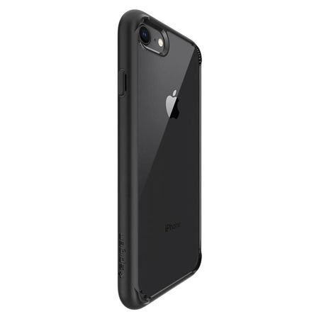 ZESTAW | ETUI SPIGEN ULTRA HYBRID 2 BLACK  + FOLIA 3MK FLEXIBLE - iPhone 7 / 8