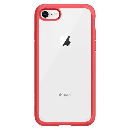 ZESTAW | ETUI SPIGEN ULTRA HYBRID 2 RED + FOLIA 3MK FLEXIBLE - iPhone 7 / 8